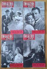 Selection of individual Theatre World magazines 1955-1959 magazine