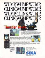 THUNDER BLADE By SEGA 1988 ORIGINAL NOS VIDEO ARCADE GAME PROMO SALES FLYER #1