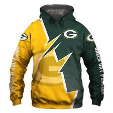 Green Bay Packers Hoodie Hooded Pullover Sweatshirt Football Team Fans