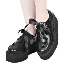 Killstar Gothic Goth Okkult Plateauschuhe Schuhe Sneaker - Night Sky Creepers