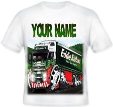 Kids Personalised Koolart EDDIE STOBART T Shirt Great Christmas Gift