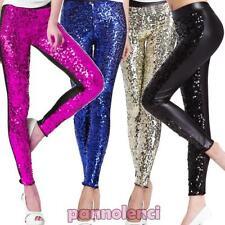 Femme leggings leggings à PAILLETTES moulant pantalon serrés neuf DL-1218