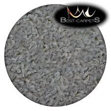 CHEAP & QUALITY CARPETS Round Feltback ETON grey silver Bedroom RUG ANY SIZE