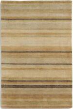 STRIPED REGATTA REG03 Gold Beige HIGH QUALITY Modern Handmade Wool Rugs & Runner