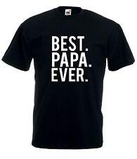 T-Shirt Maglietta J1709 Best Papa Ever Sei Sempre il Miglior Papà Festa Regalo