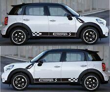 Checker Sticker Decal Side Door Stripe Graphics Body Kit for Mini Cooper S Hatch