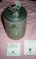 Swarovski Silver Crystal Rooster Figurine Art Glass 7674 Nr 45 w Box Retired
