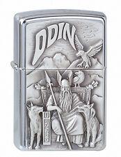 Zippo Benzin Sturmfeuerzeug Chrom poliert < Wikinger Viking Odin> # 1300097