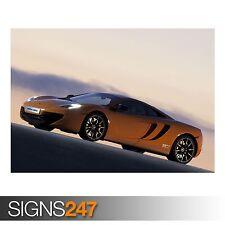 McLaren MP4 12 quater lateralmente (ab764) auto POSTER-poster foto print arte * Tutte le Taglie