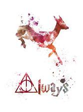 ART PRINT Doe Deer, Severus Piton, Harry Potter, sempre preventivo, Wall Art