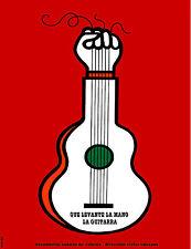 Cuban POSTER.Stylish Graphics.Que levante la mano la guitarra, Trova, GUITAR