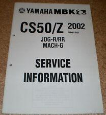 Service Information Yamaha CS 50 / Z Stand 2002