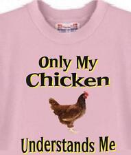 T-Shirt - Only My Chicken Understands Me - Men Women Adopt Dog Puppy  # 76