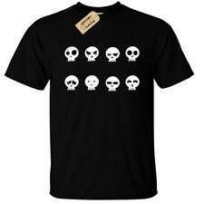 Cráneo de muerte Rostros Camiseta para hombre S-5XL Rock Gótico Calaveras MOTOCICLISTA