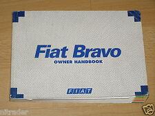 Fiat Bravo Owner's Manual Handbook 1996 - 2001 Model