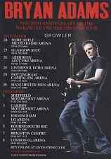 BRYAN ADAMS - 2011 TOUR FLYER - GENUINE RARE LIVE CONCERT ROCK MUSIC PROMO