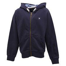3424U felpa bimbo HACKETT blue con cappuccio full zip sweatshirt kid boy