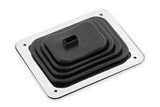 Hurst Indy Chrome Stick Shifter Rubber Floor Boot & Trim Plate Kit  NEW NOS