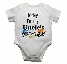 Today I'm My Uncles Problema Divertido Enterizo para Bebé mono camiseta Regalo
