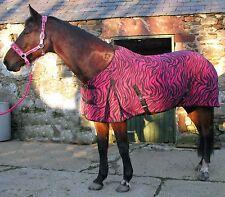 Horse Rug - Pink Zebra Fleece Rug