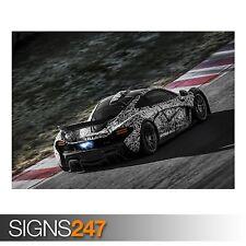 McLaren P1 carreras de coches (AA178) cartel de auto-foto imagen arte cartel impresión A0 a A4