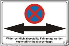 Parkverbot,Parkplatz,Schilder,Pfeil,nach,links,rechts,Halteverbot,Warnschild,187