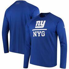 31edf6dd703 New York Giants Under Armour Combine Authentic Lockup Tech Long Sleeve  T-Shirt