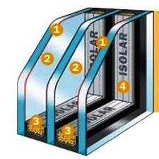 WärmeschutzISOLIERGLAS 0,6 - 4/SZR/4/SZR/4  3-Fach Glas ISO nach Maß (165€/m²)