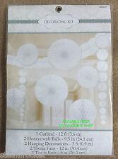DECORATING KIT - 9 Pieces - Garland, Tissue Fan - Wedding - Party - Celebration