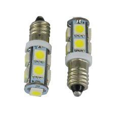 F29 /  2-5-10 Stk. E10 LED Lämpchen  Weiß 12 V DC  9 x 5050 SMD Glühbirne Lampe