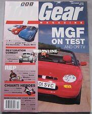 Top Gear 10/1995 featuring Porsche Carrera, MGF, Mazda MX-5, Alfa Romeo, Saab