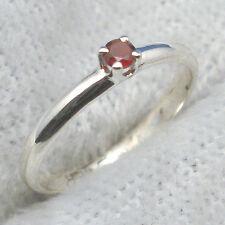 Garnet Baby Keepsake Ring, Hand Crafted Sterling Silver, January birthstone