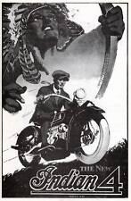1929  INDIAN 4 MOTORCYCLE BROCHURE