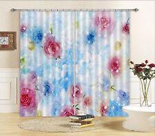 3D Fantasy Rose 62 Blockout Photo Curtain Print Curtains Drapes Fabric Window UK