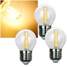 3 Stück LED Leuchtmittel E27 470lm 4W 230V A++ Tropfen-Form Lampe Glühbirne