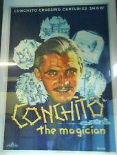 Antico Poster CONCHITO THE MAGICIAN quadricromia cm 80x110 originale anni '30
