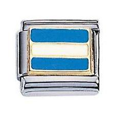 Zoppini Bandiera Nautica J in acciaio, oro e smalto (C1BSB_NJ00)