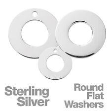 Sterling Silver plat rond Rondelles pour Fabrication de Bijoux