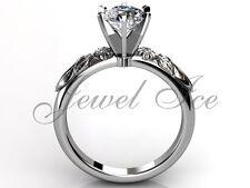Platinum Diamond Unusual Unique Floral Engagement Ring Set ER-1039