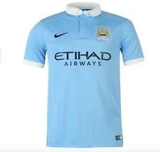 Nike Manchester City HEIM HOME MAGLIA BLU BIANCO TUTTE le taglie NUOVO