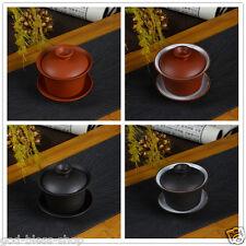 On sales Chinese yixing zisha tea set gaiwan tureen tea ware tea bowl black red