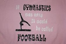 "Gymnastics ""Football"" pink or light blue sweatshirts"