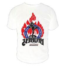 White 'Kao' Muay Thai Boxing UFC/MA Duo Gear Manga Corta Camiseta