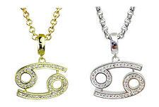Cancro simbolo della ZODIAC argento o oro placcato pendente-horoscopes STAR segni