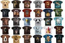 Animal Face T-Shirt Oversized Mountain Wild Oranguran Dog 100% Cotton Adult
