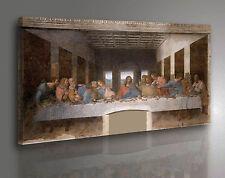 Quadro Leonardo da Vinci L'ultima Cena - Cenacolo Stampa su Tela effetto Dipinto