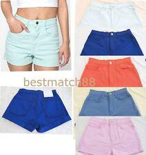 american apparel denim high waist cuff short jeans rsadm303