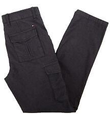 Tommy Hilfiger Men's Six Pocket Custom Fit Black Casual Pants - $0 Free Ship