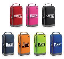 Personalised Varsity Name Shoe Bag Football Boot School PE Customised Kids Name