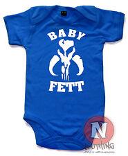 Baby Fett Babygrow cotton Boba Fett bounty hunter Star Wars Babysuit Jedi clones